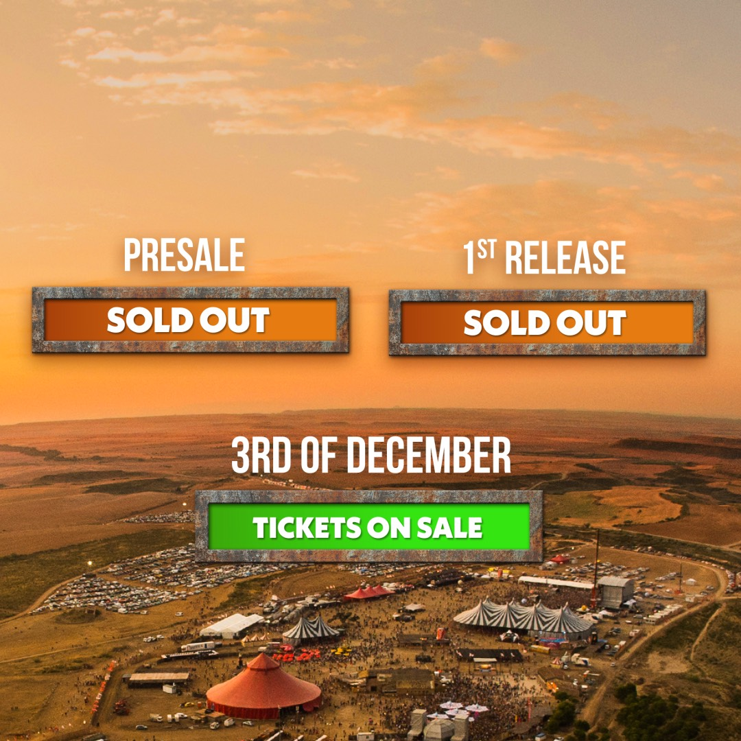 Regular tickets on sale on 30th October - 12PM